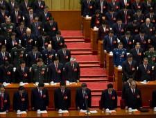 Li Peng, He Guoqiang, Xi Jinping, Jia Qinglin, Wu Bangguo, Hu Jintao, Jiang Zemin, Wen Jiabao